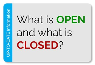 What is open and what is closed button